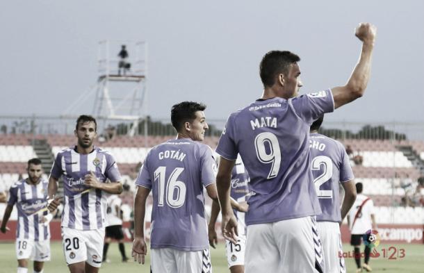 Jaime Mata celebrando un gol | Foto: LaLiga