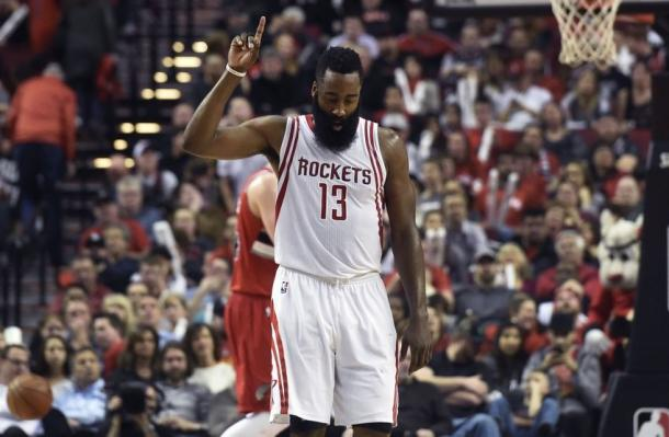 James Harden has led the Houston Raptors to the third seed in the Western Conference. Photo: USA TODAY Sports