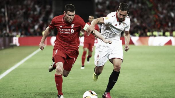 Milner's performances for Liverpool notably in the Europa League earned him his high rating (image:UEFA,com)