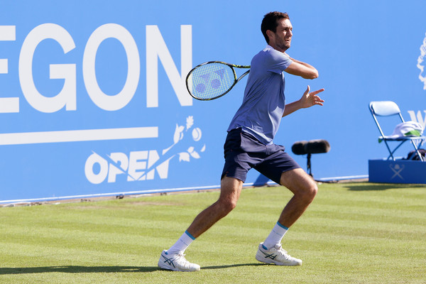 James Ward in day one action of the Aegon Open in Nottingham (Photo by Daniel Smith / Source : Getty Images)
