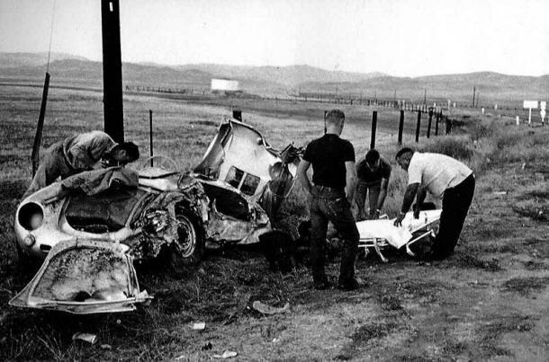 Accidente de James Dean (Imagen: Paperfront)