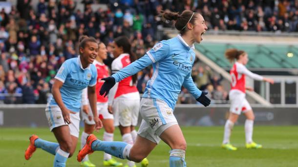 Jane Ross has bene in terrific scoring form for Man City. (Photo: Sky Sports)