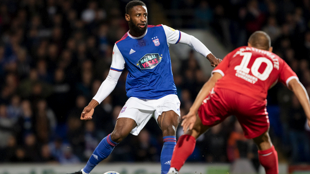 Donacien was one of Ipswich's better players on the night/Photo: Ipswich Town website