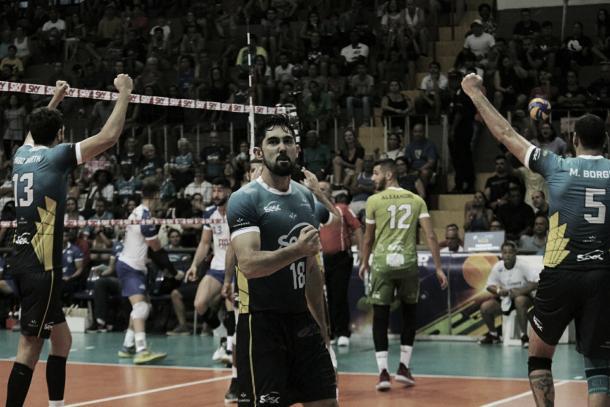 Japa comemorou vitória sobre o Minas (Foto: Vinicius Lima/Divulgação)