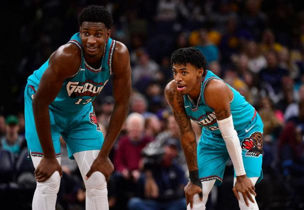 Jaren Jackson y Ja Morant l Foto: NBA.com