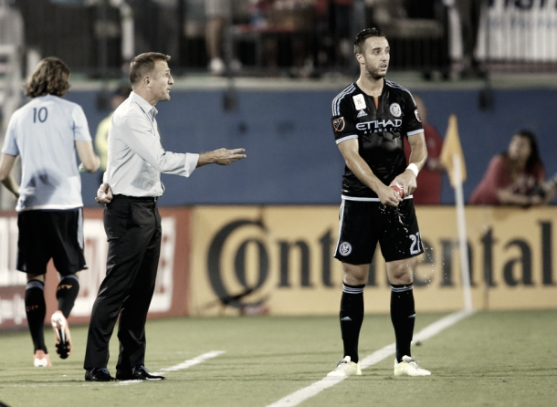 Jason Kreis and RJ Allen have history together. | Photo: Matthew Emmons-USA TODAY Sports