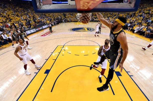 McGee was perfect from the field in Game 2/Photo: Getty Images