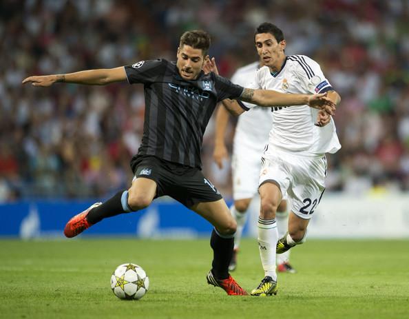 Garcia em ação pelo City contra o Real Madrid | Foto: Jasper Juinen/Getty Images