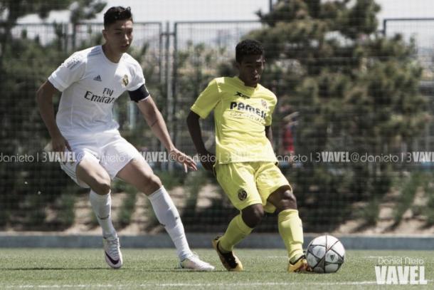 Javi Sánchez en un partido con el filial del Real Madrid/ Foto: Vavel
