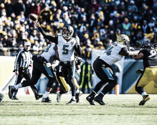 Bortles tuvo un gran partido en Pittsburgh I Foto: Jacksonville Jaguars