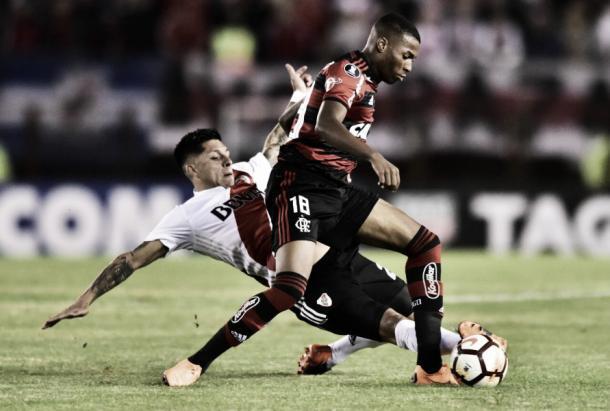Jean Lucas agradou torcida e membros da comissão técnica nas partidas disputadas este ano. Foto: Gilvan de Souza/Flamengo