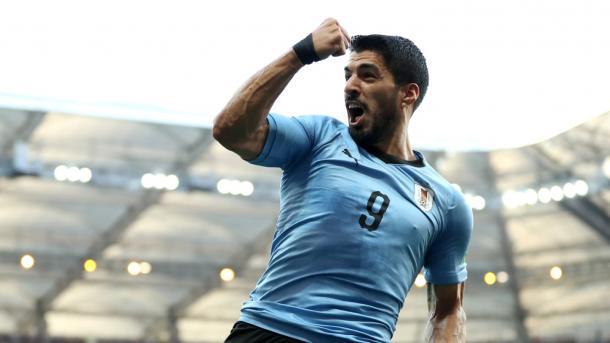 Luis Suárez es la clara referencia de Uruguay. | Fotografía: FIFA via Getty Images