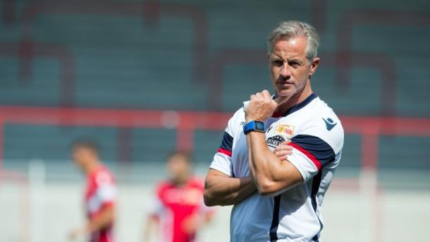 Jens Keller, the new Union Berlin coach, goes in search of his first win. (Source: Jörg Carstensen / picture alliance / dpa)
