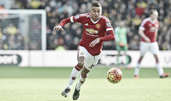 Jesse Lingard seems favoured by Jose Mourinho at the moment so he's expected to replace Juan Mata on the right wing (Getty)