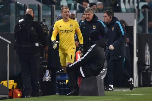 Hart limped off in the latter stages of City's defeat against Juventus on Tuesday