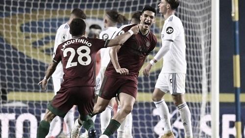 Gol ante el Leeds. Foto: Premier League.