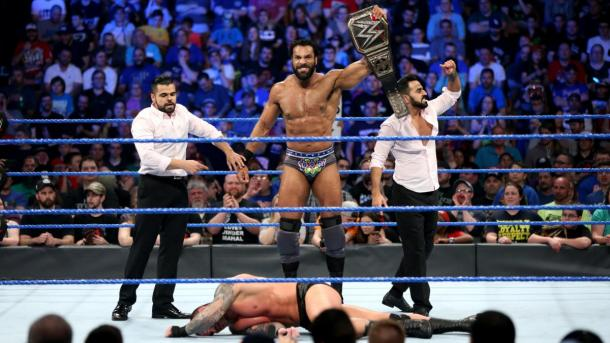Jinder Mahal retained the WWE Championship on more than one occasion.    Photo credit: WWE.com