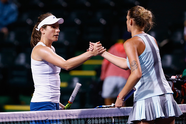 Johanna Konta And Karolina Pliskova Shake Hands After The Match. Photo: Julian Finney/Getty Images
