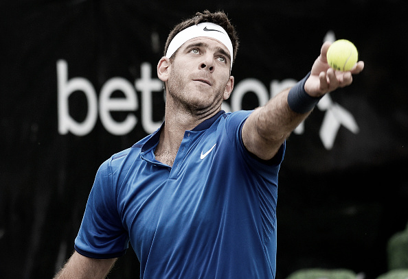 Juan Martin del Potro's wrist showed signs of strength and weakness in his semifinal match at the Mercedes Open. (Photo: Getty Images)