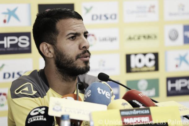 Viera en rueda de prensa | Foto: www.udlaspalmas.es
