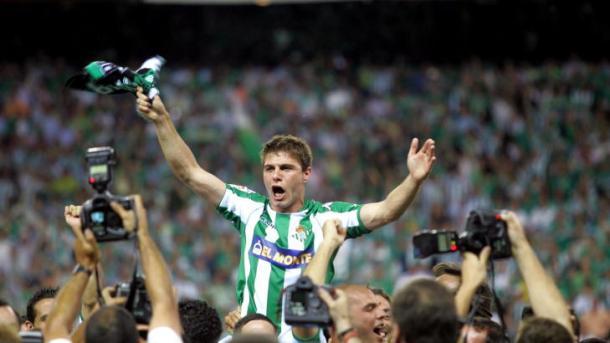 Joaquín campeón de la Copa del Rey 2005. Foto: Real Betis
