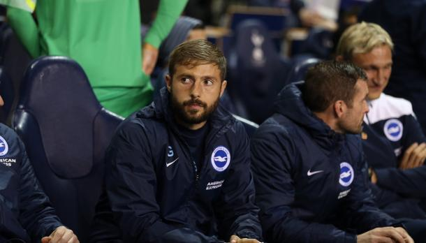 Joaquín Gómez durante un partido en su etapa en el Brighton | Foto: BHAFC