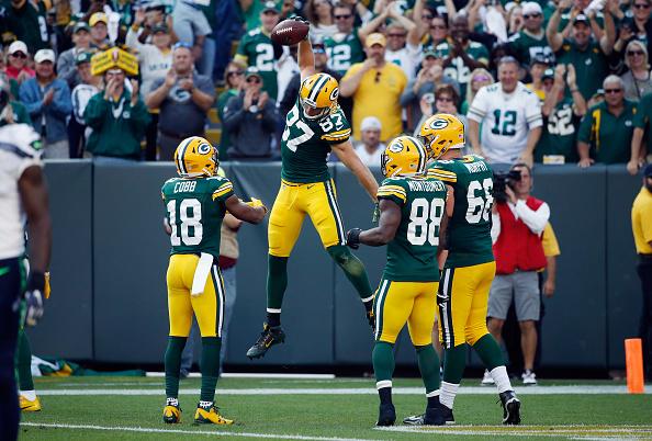 Jordy Nelson marcou segundo TD dos Packers na partida | Foto: Joe Robbins/Getty