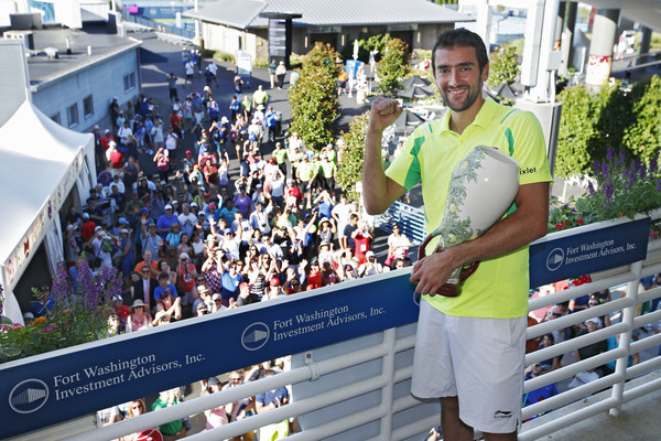 Cilic with the Western and Southern Open trophy (Photo by Joe Robbins/Getty Images)