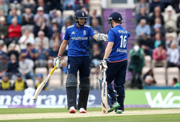 Root and Morgan saw England to victory in the second ODI   Photo: Getty