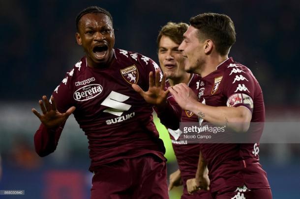 Joel Obi festejando el gol que daba la victoria a su equipo ante el Cagliari / Foto: Gettyimages