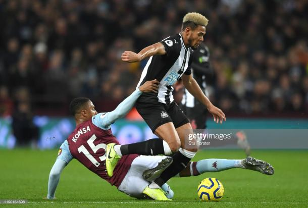 Record signing Joelinton has now gone ten matches without a goal after the game with Aston Villa (Photo by Stu Forster/ Getty Images)