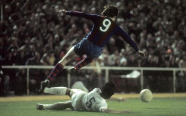Johan Cruyff durante el 0-5 | Foto: Sport