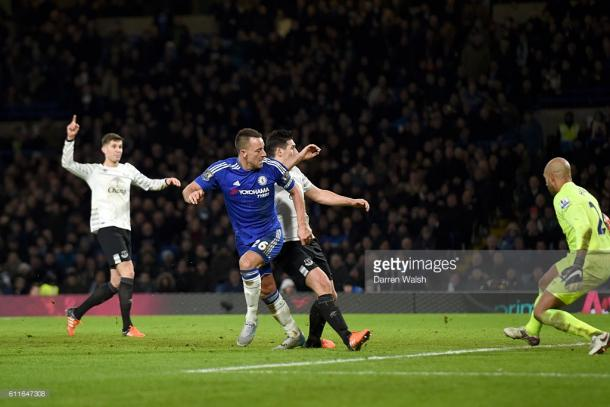 Chelsea's John Terry scores his side's third goal, bringing the scoreline to 3-3 last season. | Photo: Darren Walsh/Chelsea FC via Getty Images