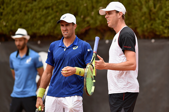 Querrey's doubles partner Steve Johnson avoided exiting in the singles (Photo: Getty Images/Dennis Grombkowski)