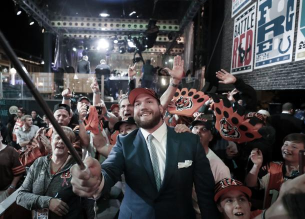 El linero Jonah Williams seleccionado por los Bengals (foto NFL.com)
