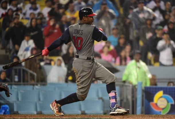 Adam Jones has proven to be a vital clog in the USA puzzle this World Baseball Classic. | Photo: Getty Images/Harry Huw