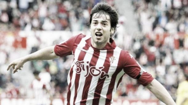 Jony celebra su primer gol. Foto: La Liga
