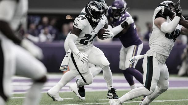 El RB, Jordan Howard será clave para que los Eagles se lleven la victoria (foto Eagles.com)