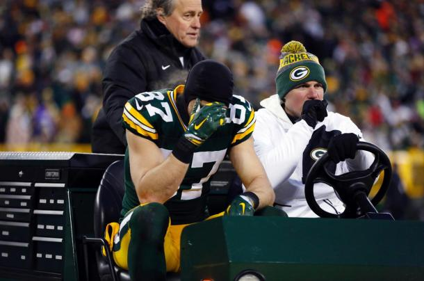 Jordy Nelson suffered broken ribs against the New York Giants and has been sidelined ever since. (Source: Matt Ludtke/AP)