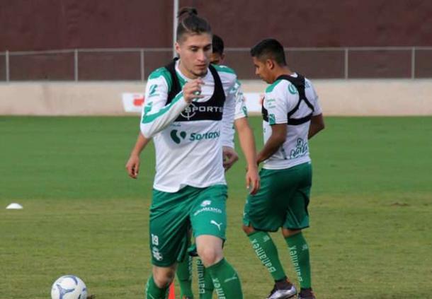 Jorge Villafaña has already established himself as a starter for Santos Laguna. Photo provided by Santos Laguna.