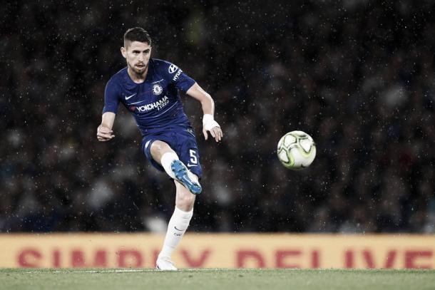 Jorginho espera ser el conductor del Chelsea en el debut | Fuente Chelsea FC.