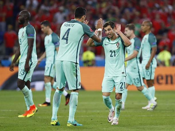 Fonte and Cedric were pivotal for Portugal in the summer, but did not feature in the European champions demolition of Gibraltar. Photo: Southampton FC.