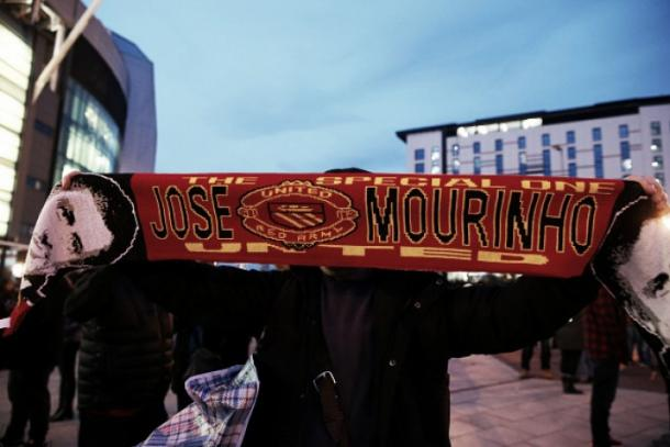 Jose Mourinho scarves were on sale at Old Trafford as early as December | Photo: Alex Livesey/Getty Images Sport