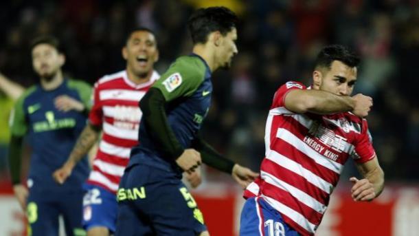Joselu celebra el gol | Foto: La Liga