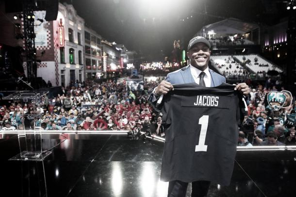 Joshua Jacobs, segundo pick de los Raiders (foto NFL.com)