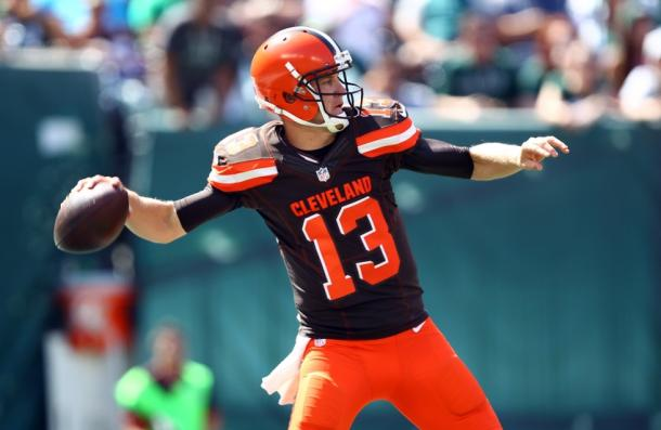 Josh McCown is entering the 2nd year of his contract with the Browns, the question is whether or not he will be back. (Danny Wild/USA TODAY Sports