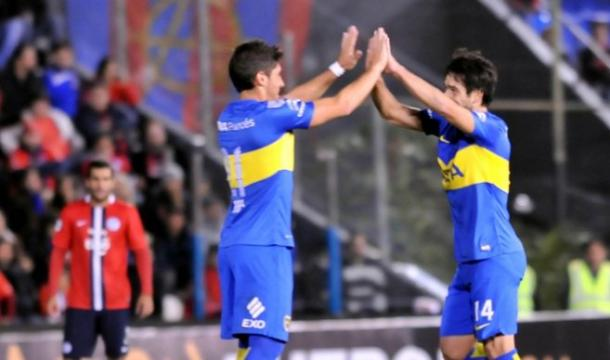 Boca Juniors celebrating goal. Photo: Ultima Hora