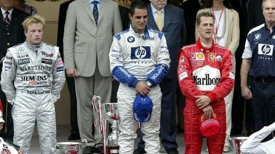 El podio del Gran Premio de Mónaco 2003. Imagen: Getty images.