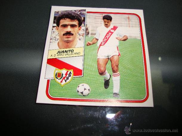 Juanito. Cromo 1989-90. Fuente: todocoleccion.net