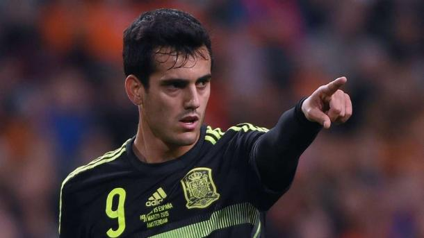 Juanmi on his senior international bow against the Netherlands | Photo: Goal.com